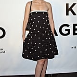 Laura Brown joined Karl Lagerfeld and Harper's Bazaar for an evening in the designer's honor at Alice Tully Hall.