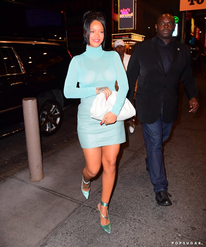 Rihanna's Strappy Heels Come in the Perfect Shade of Cinderella Blue