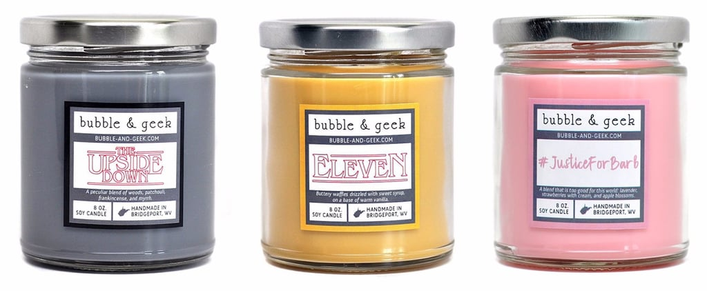 Strangers Things Candles From Bubble and Geek
