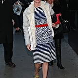 Diane Kruger arrived at Good Morning America in NYC.