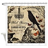 Modern Vintage Halloween Decorative Fabric Shower Curtain