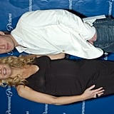 A pregnant Gwyneth posed with her Talented Mr. Ripley costar Jude Law at a Paramount dinner in March 2004.