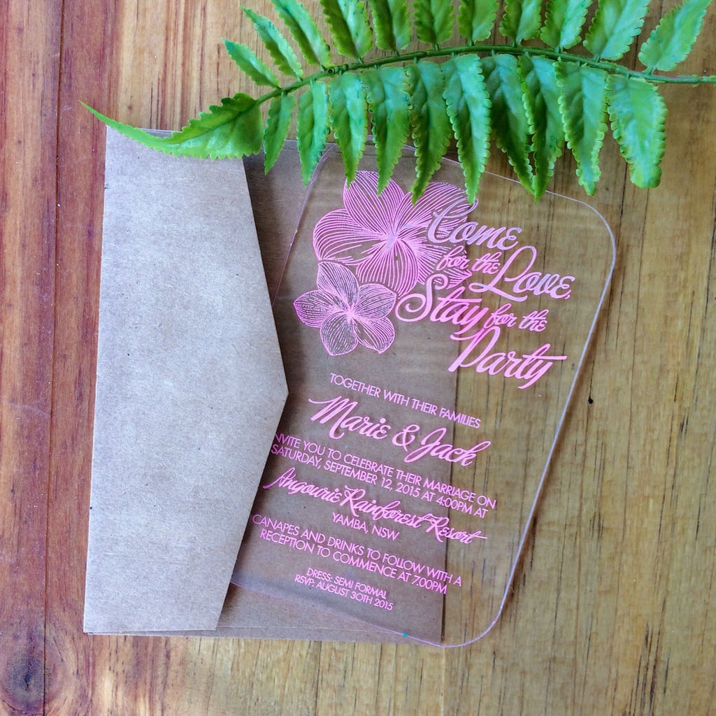When To Send Out Wedding Invitations For Destination Wedding: Destination Wedding Invitation