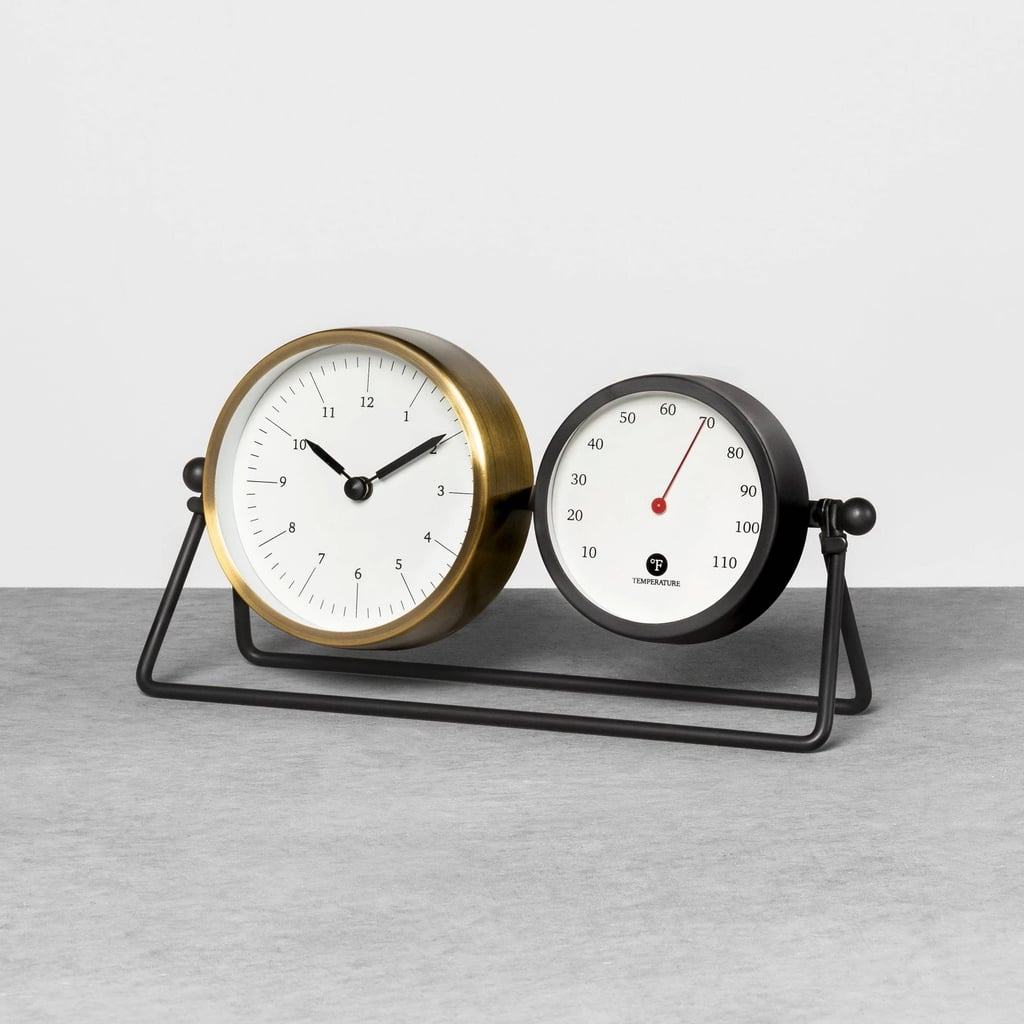 Table Clock and Thermometer