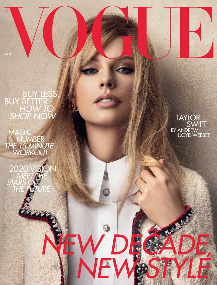 See Taylor Swift S Outfits From Her British Vogue Cover Popsugar Fashion