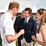 But He Took a Break From the Field to Meet Up With Eddie Redmayne and His Wife