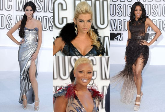Kesha, Ciara, Selena Gomez and Eva Marcille at the 2010 MTV VMAs