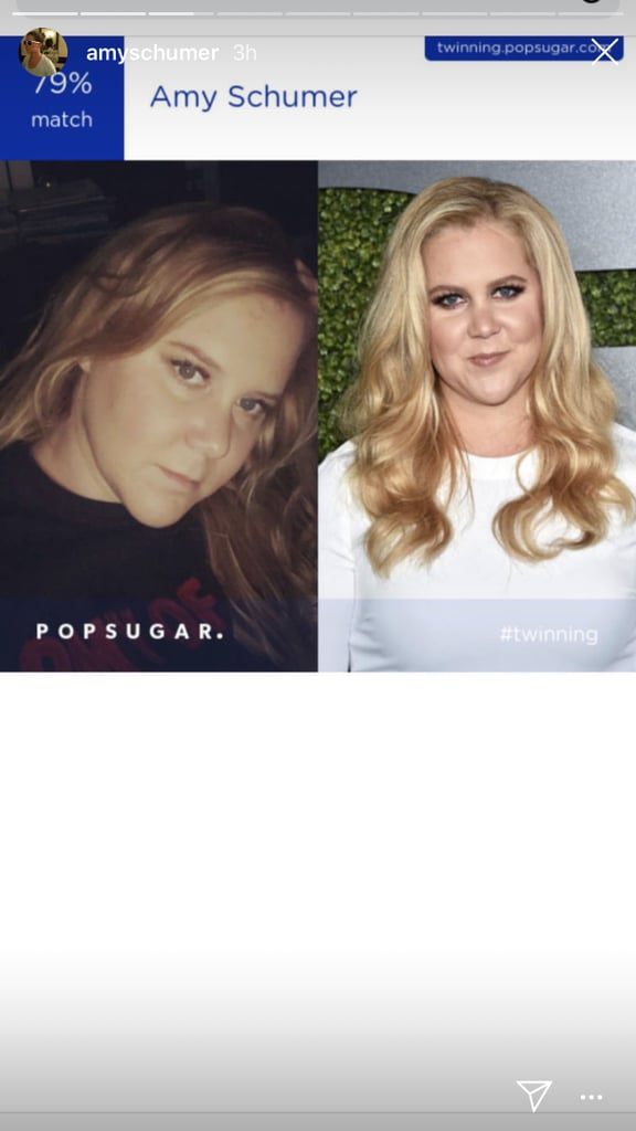 Whew! Amy Schumer showed off her accurate match.
