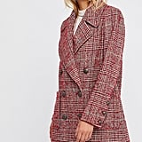 Go classic but current in this upgraded red Free People Naiomi Check Peacoat ($298).