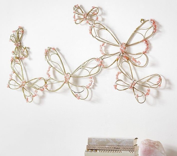 Pottery Barn Kids Beaded Wire Butterfly Cluster