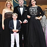 Kelly Preston, John Travolta, Ella Bleu Travolta, and Benjamin Travolta