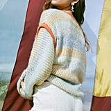 UO Marcia Mixed Knit Crew Neck Sweater