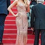 For her film's premiere, Blake Lively went with movie star glamour in a sparkly cut-out Versace gown.