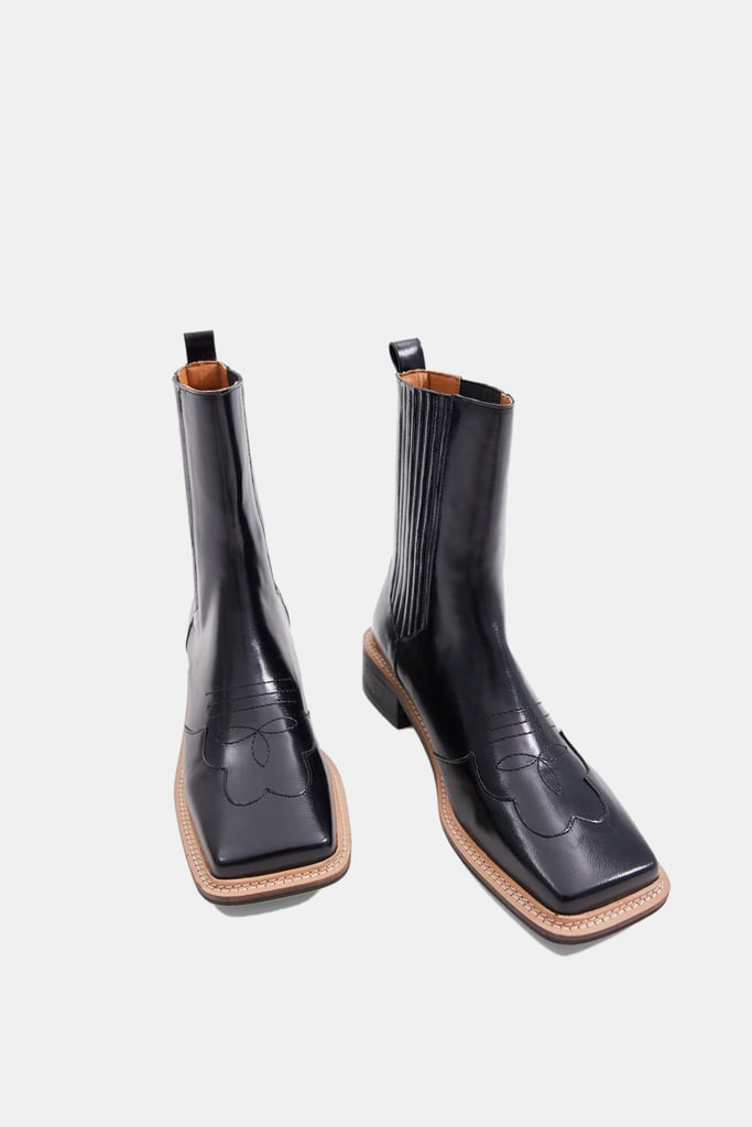Source Unknown Western Chelsea Boots in Black