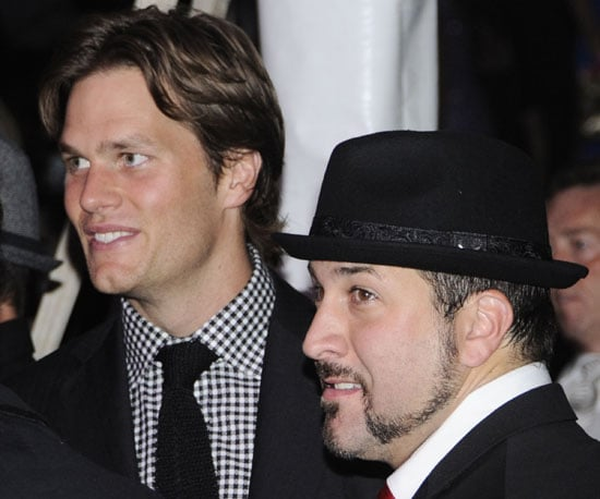 Slide Picture of Tom Brady and Joey Fatone At the Kentucky Derby