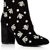 Kenneth Cole Caylee Velvet Embellished Block Heel Booties