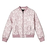 Girls' Blush Floral Jacquard Bomber Jacket  ($25)