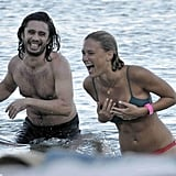Bar Refaeli had a laugh while in the water.