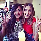 Jessica Mauboy and Kate Waterhouse got loud with mixed prints and lots of colour. Source: Instagram user katewaterhouse7