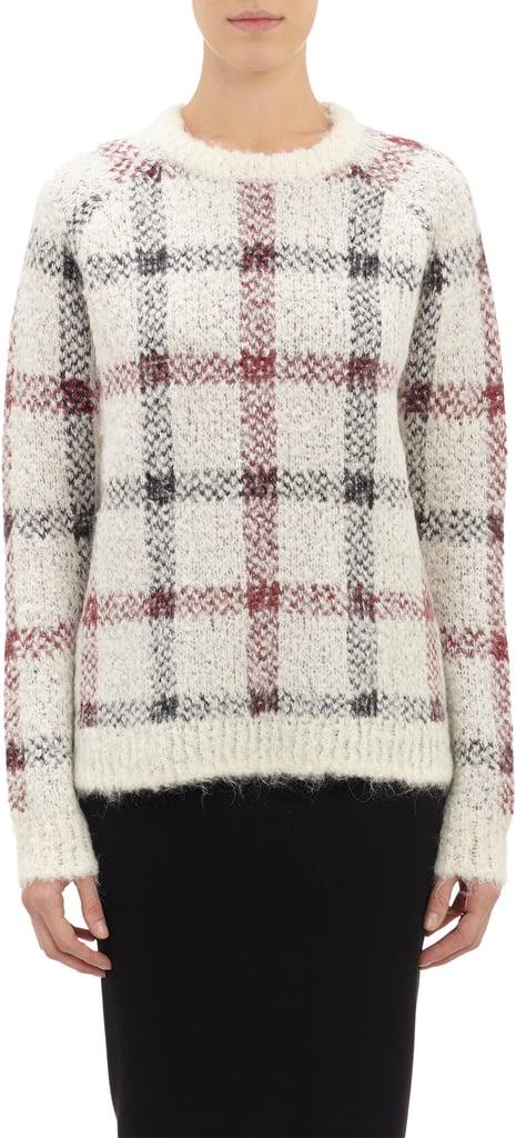 Theory Plaid Sweater