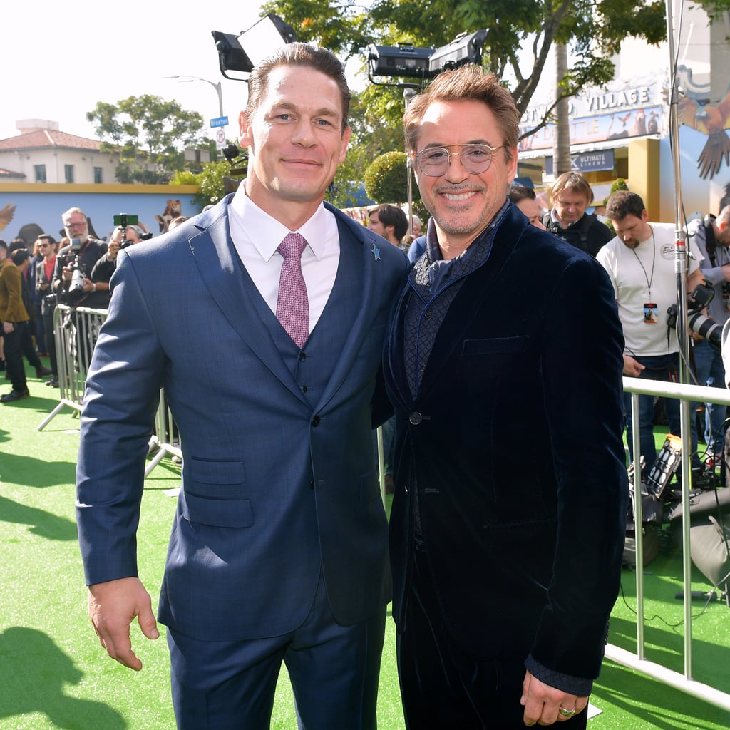 John Cena and Robert Downey Jr. at the Dolittle Premiere in LA
