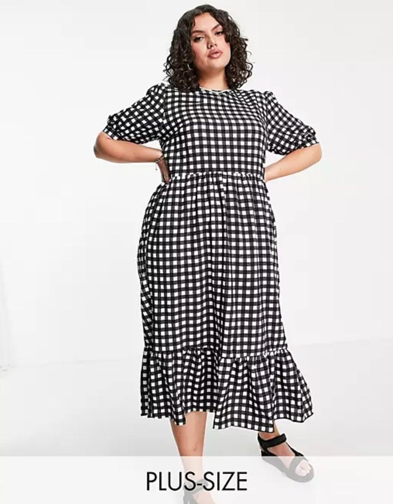 Shop Gingham Dresses: Urban Bliss Plus Gingham Smock Dress