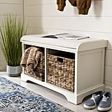 Santa Cruz Upholstered Cubby Storage Bench
