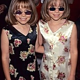 Mary-Kate and Ashley Olsen in April 1997