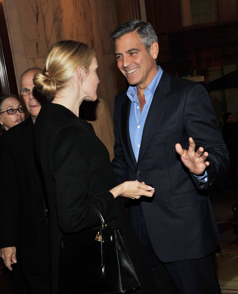 Kelly Rutherford and George Clooney at the afterparty for the premiere of The Ides of March.