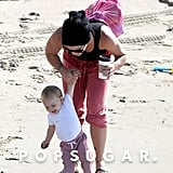 Pink at the Beach With Willow | Pictures