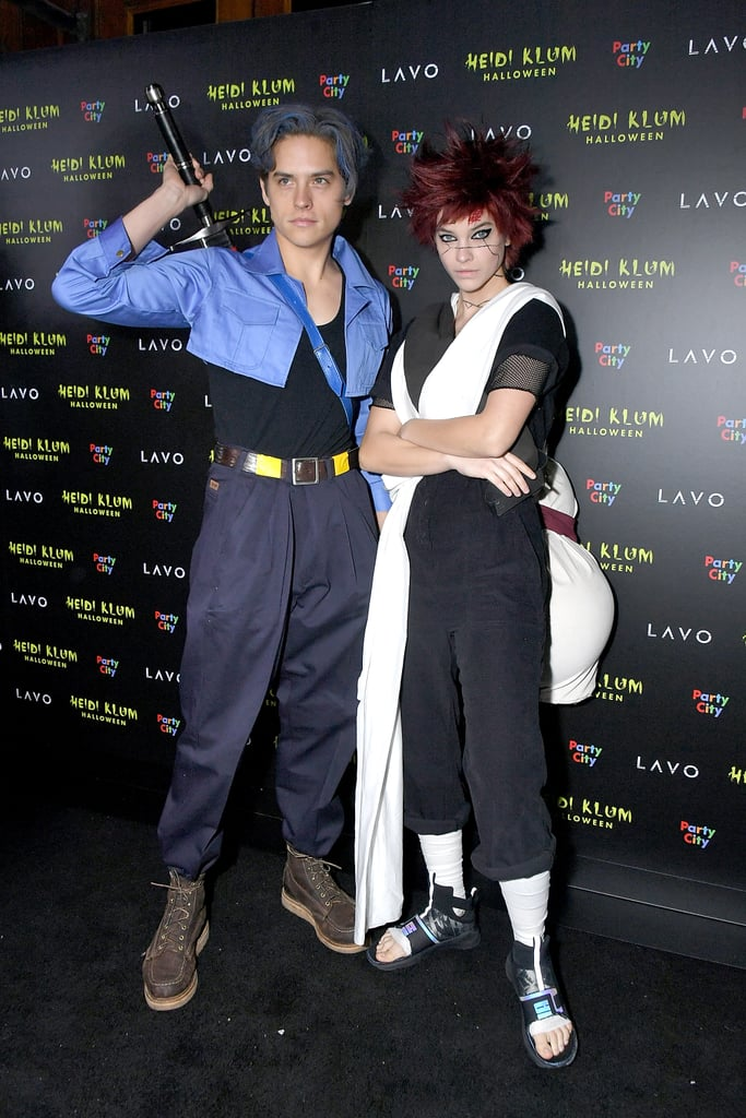 Dylan Sprouse and Barbara Palvin as Future Trunks and Gaara