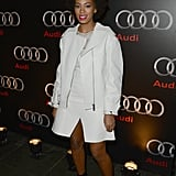 Solange Knowles attended the Audi Celebrates the Super Bowl event on Saturday in New Orleans, where she performed a DJ set.