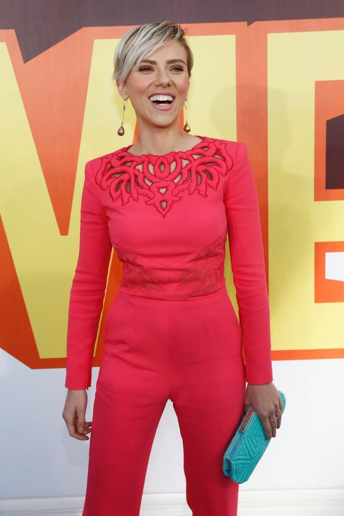Scarlett Johansson MTV Movie Awards Red Carpet
