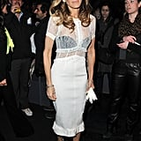 Sarah Jessica Parker wore the trend at the Louis Vuitton show in Paris for A/W Fashion Week.