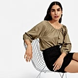 Everlane The Air Ruched Blouse
