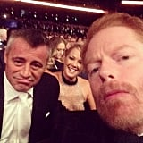 Jesse Tyler Ferguson took a selfie with Matt LeBlanc and his girlfriend, Andrea Anders.