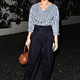 Brie played with volume in a striped Céline shirt and high-waisted trousers in 2016.