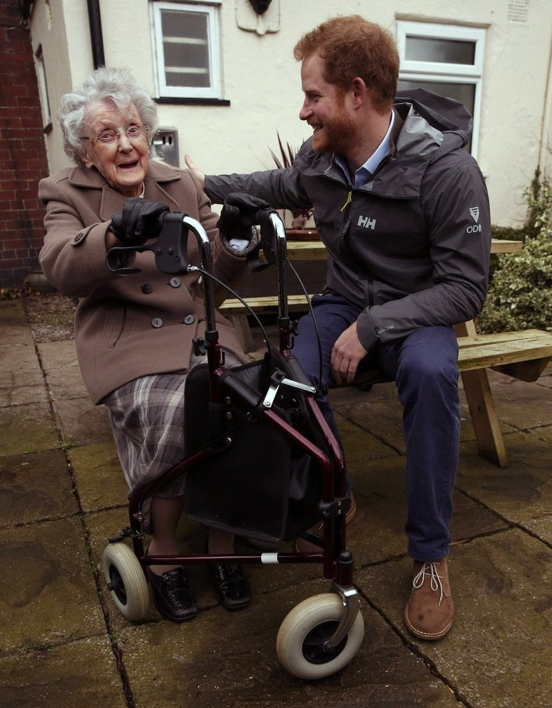 When He Consoled 99-Year-Old Winnie Hodson After the Lancashire Floods