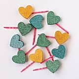 DIY Glitter Heart Hair Pins