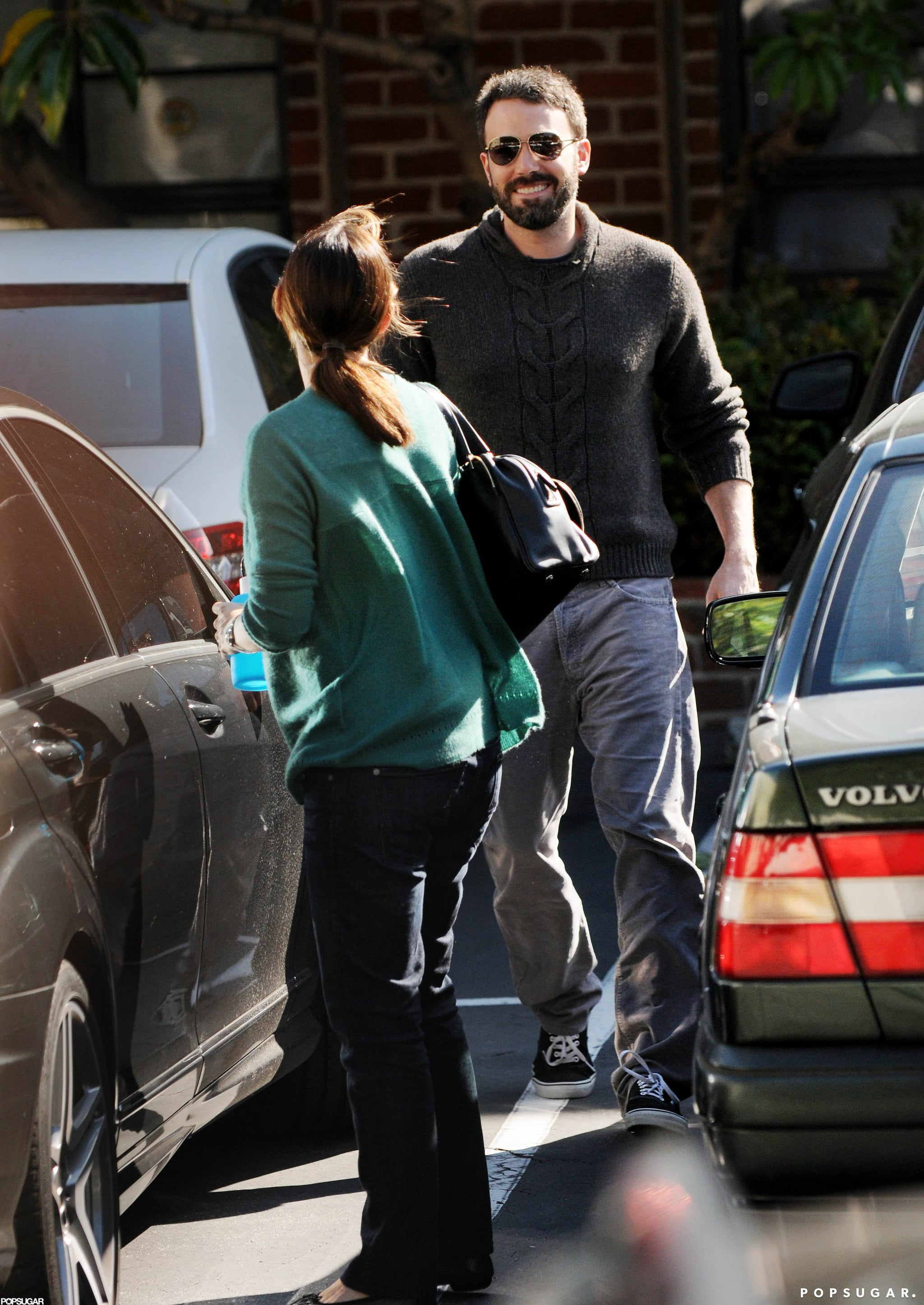 Ben Affleck and Jennifer Garner walked to their car after running errands together in LA.
