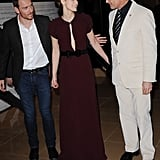 Michael Fassbender reunited with his A Dangerous Method costars Keira Knightley and Viggo Mortensen this evening for a London premiere.