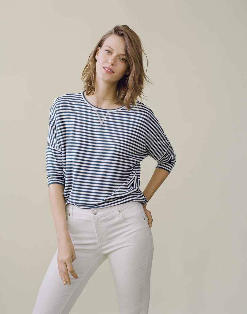 The striped dropshoulder tee