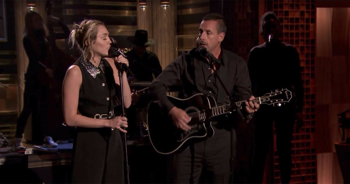Miley Cyrus And Adam Sandler Jimmy Fallon Performance