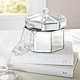 Mirrored Octagon Jewelry Box