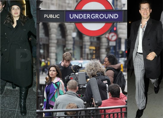 Photos of America Ferrera and Eric Mabius Filming Scenes For the Last Episode of Ugly Betty in London