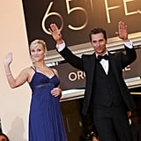 A pregnant Reese Witherspoon waved to the crowd with Matthew McConaughey at the Cannes Film Festival in 2012.