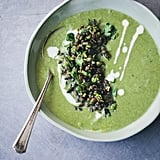 Asparagus, Fennel, and Spinach Soup With Toppings