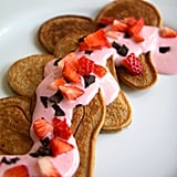 Strawberry Protein Pancakes With Strawberry Cream Sauce
