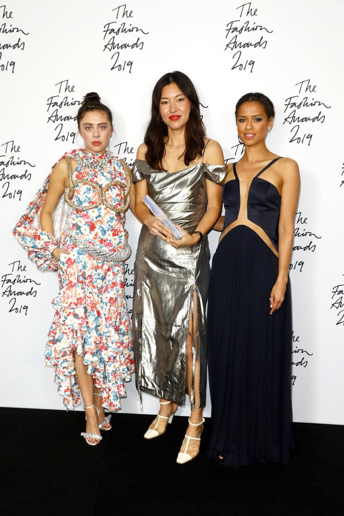 Bel Powley, Rejina Pyo, and Gugu Mbatha-Raw at the British Fashion Awards 2019 in London