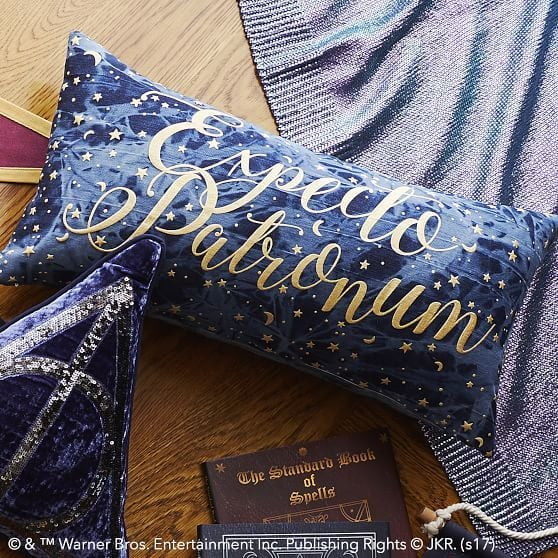 pottery barn teen harry potter expecto patronum pillow cover - Pottery Barn Pillow Covers
